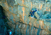Paul Hoskins on the 1st ascent of Anatadaephobia (24)