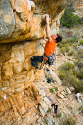 Adam Demmert on The Lowdown (25), Castle Crag, Arapiles