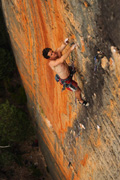 Mike File on the best trad face route in the universe - Archimedes Principle (26)