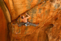 Chris Abernethy, traversing across Strike the First Blow (25).