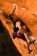Jake Bresnehan on the very tough link-up of Tyranny into Lifestyling (31), Spurt Wall, Grampians.