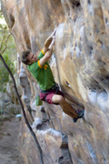 Lee Skidmore on Spurt Wall Traverse