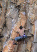 "Neil pops the crux sequence on ""De La Soul"", Grade 26"